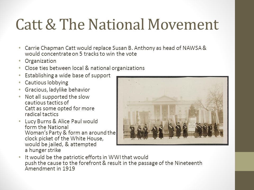 Catt & The National Movement