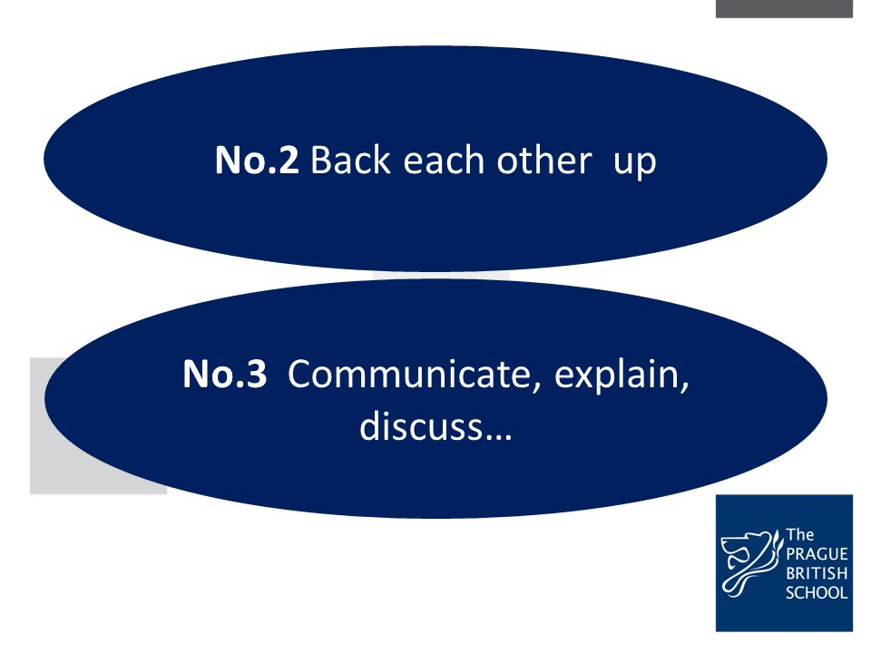 No.3 Communicate, explain, discuss…