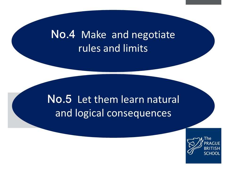 No.4 Make and negotiate rules and limits