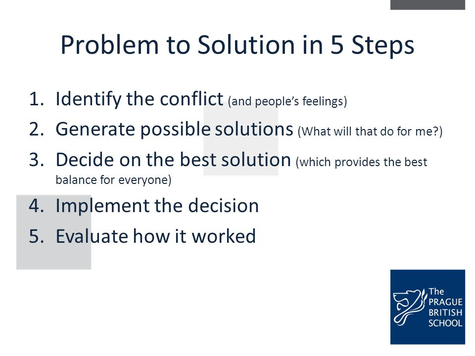Problem to Solution in 5 Steps