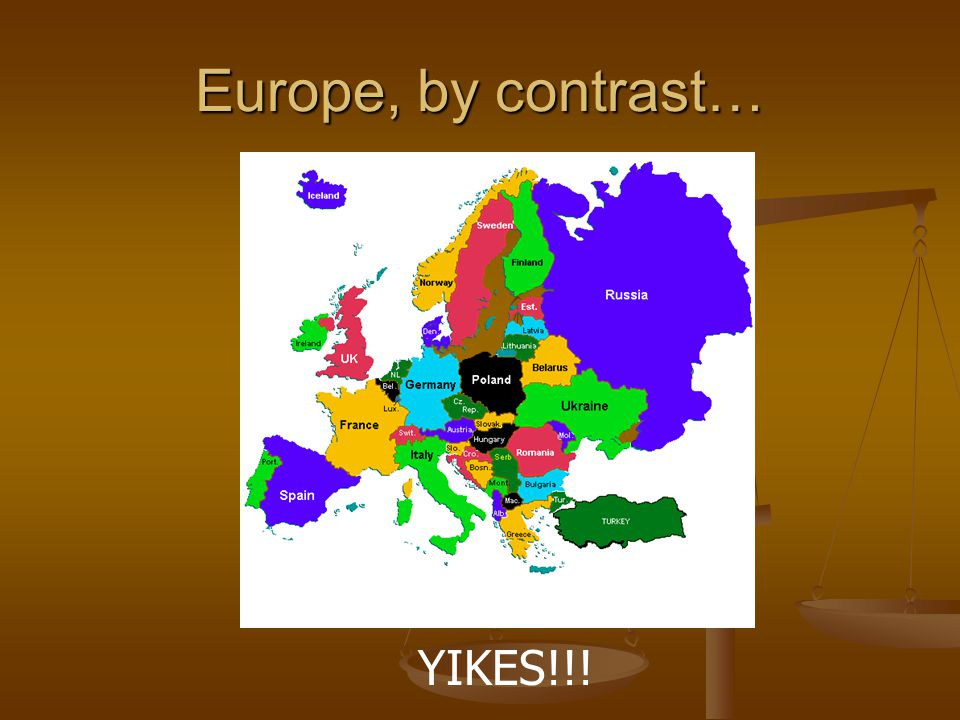 Europe, by contrast… YIKES!!!