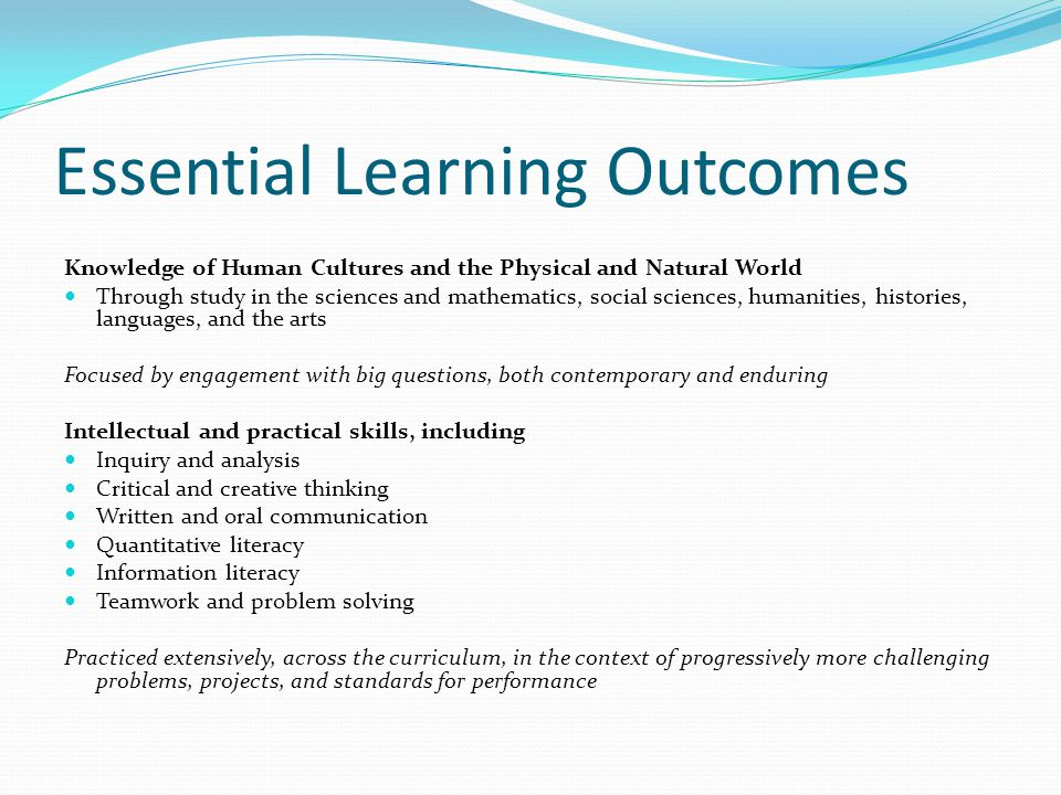 Essential Learning Outcomes