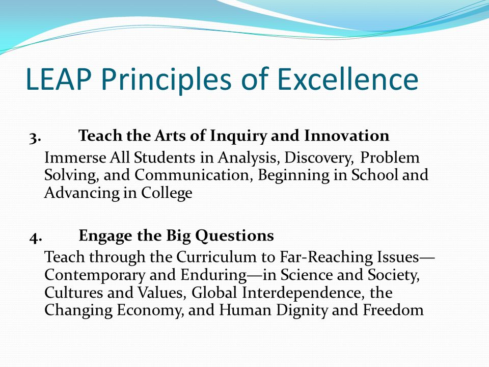 LEAP Principles of Excellence