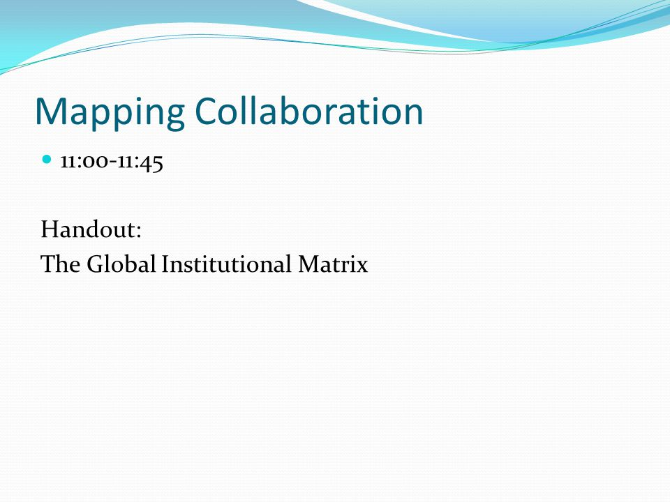 Mapping Collaboration