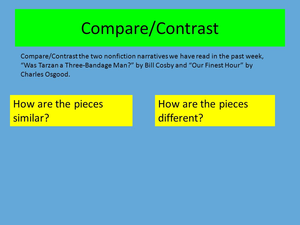 Compare/Contrast How are the pieces similar
