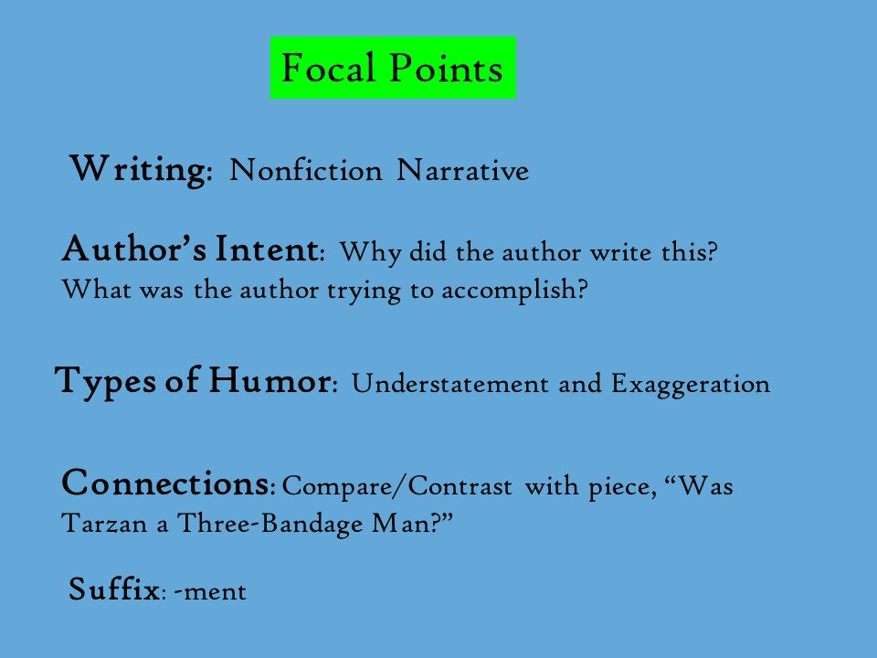 Focal Points Writing: Nonfiction Narrative
