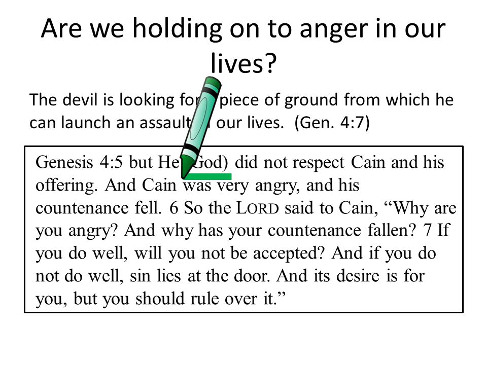 Are we holding on to anger in our lives