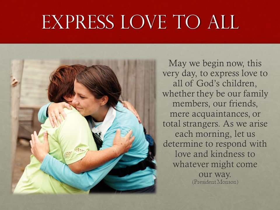 Express love to all