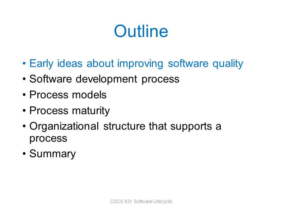 CSCE 431 Software Lifecycle