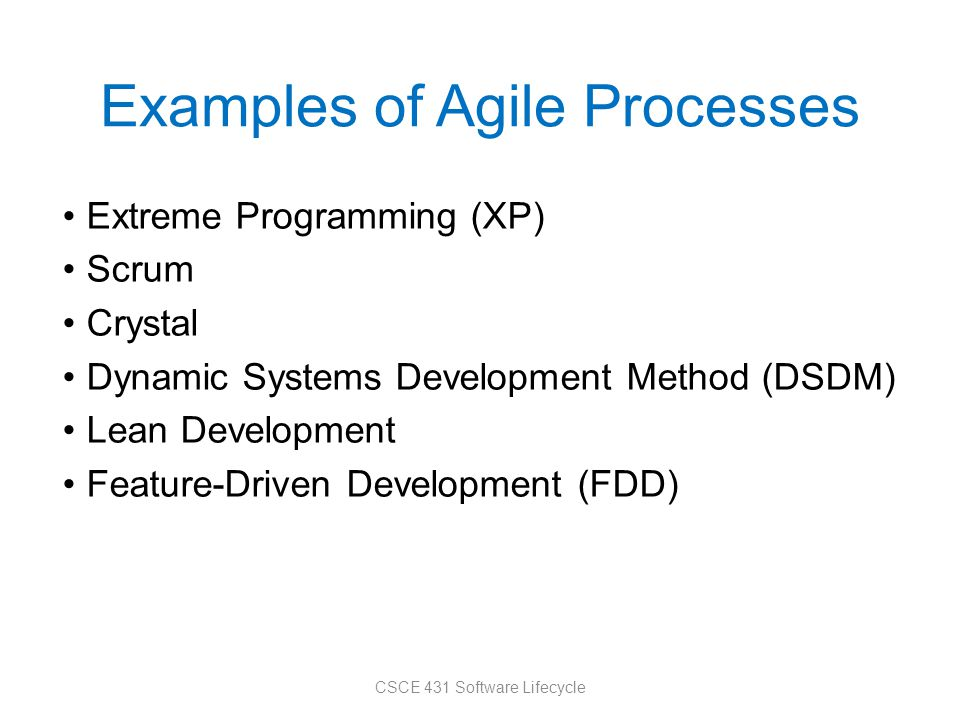 Examples of Agile Processes
