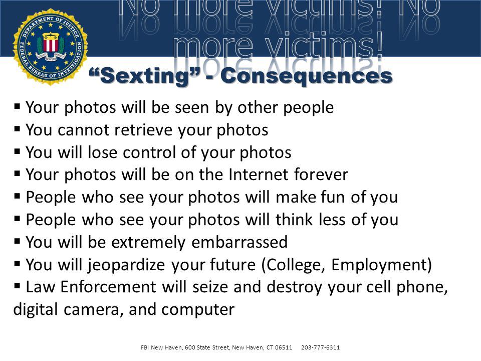 Sexting - Consequences