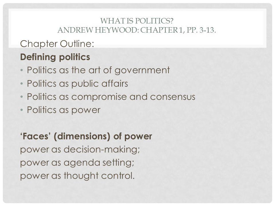 politics as the art of government pdf