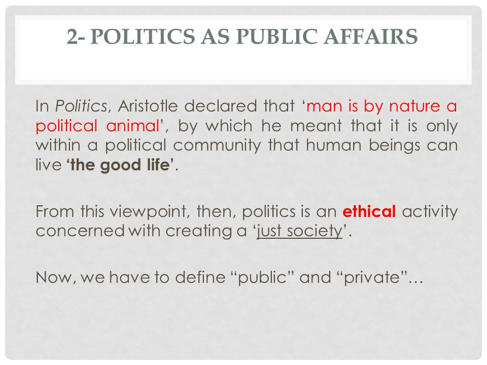 Nature and meaning of public policy