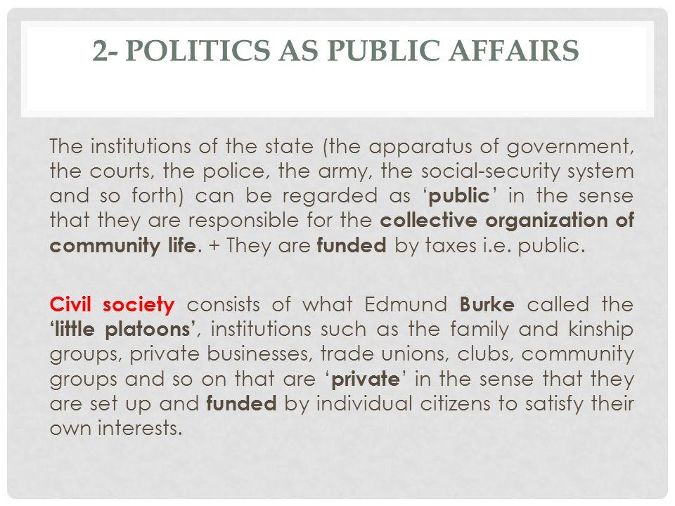 2- Politics as Public Affairs