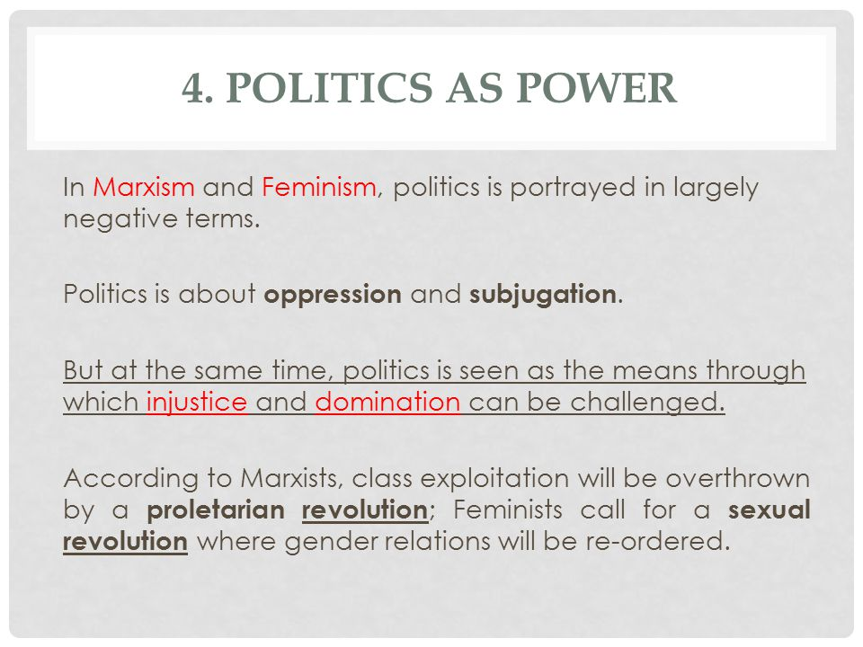 4. Politics as Power