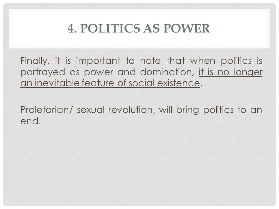 4. Politics as Power