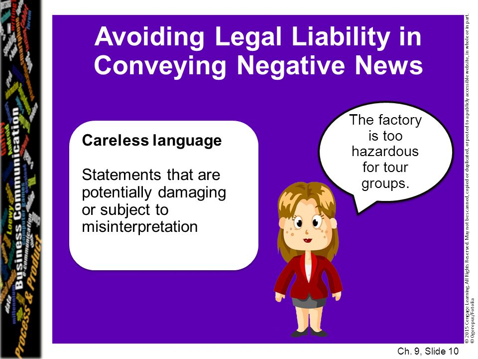 Avoiding Legal Liability in Conveying Negative News