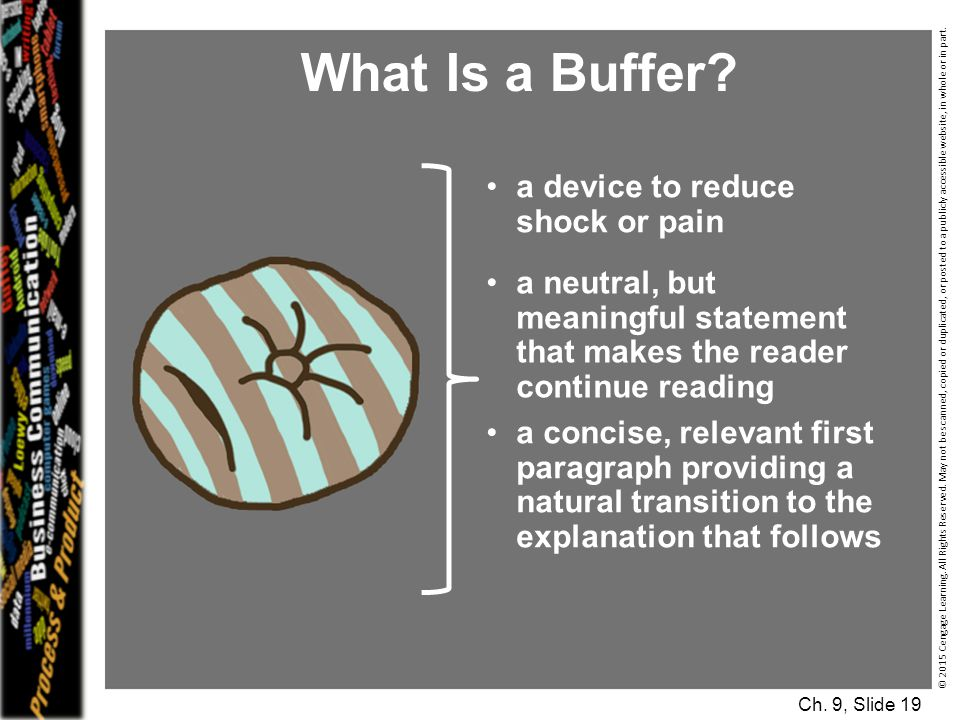 What Is a Buffer a device to reduce shock or pain