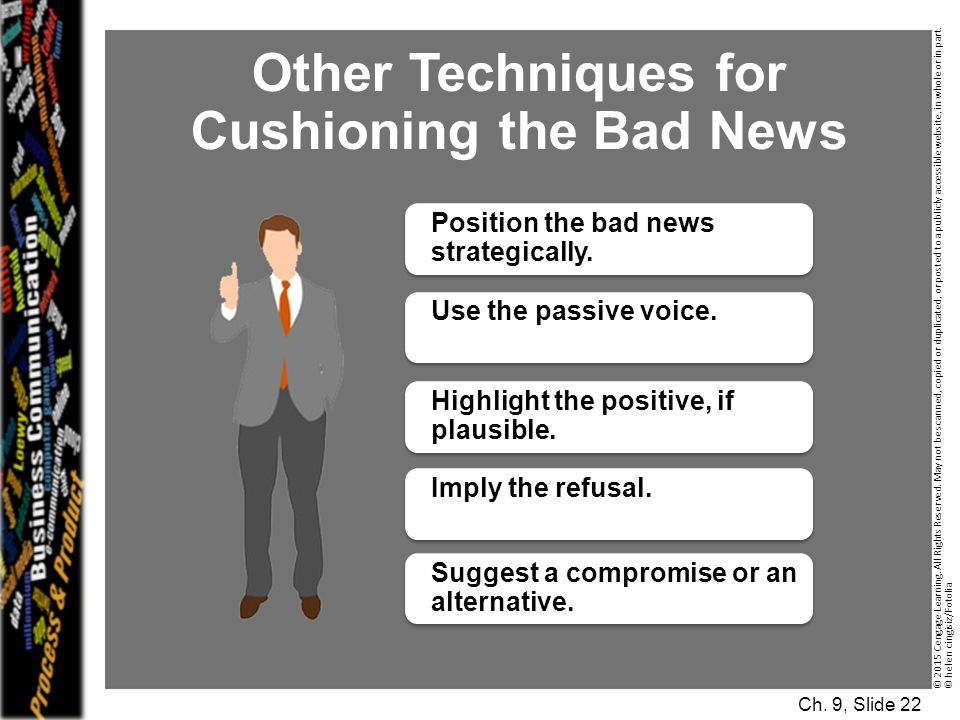 Other Techniques for Cushioning the Bad News
