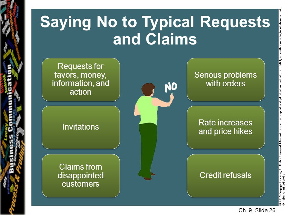 Saying No to Typical Requests and Claims