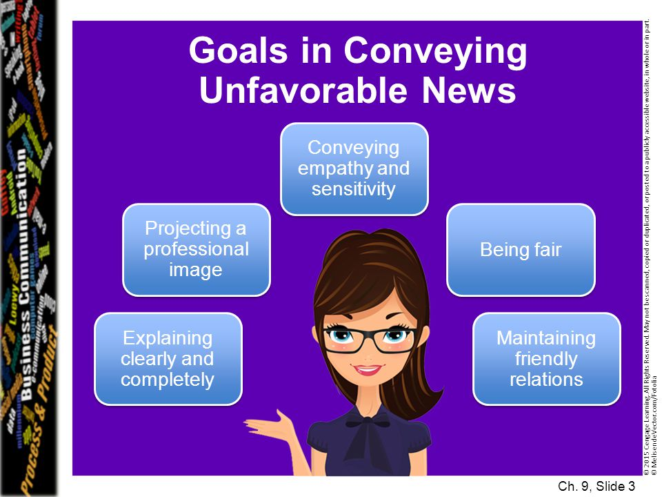 Goals in Conveying Unfavorable News