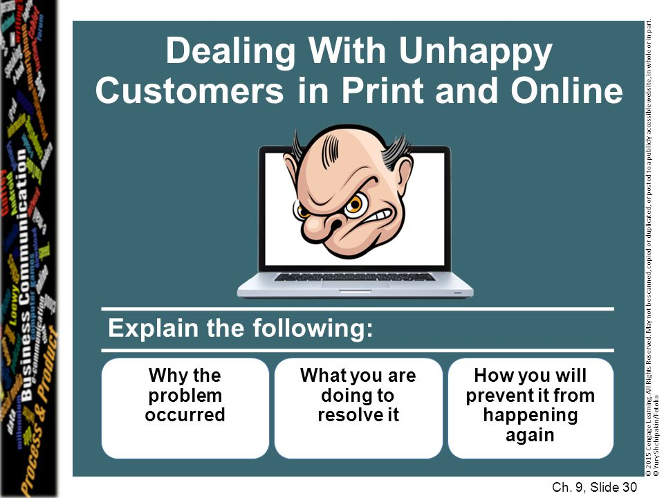 Dealing With Unhappy Customers in Print and Online