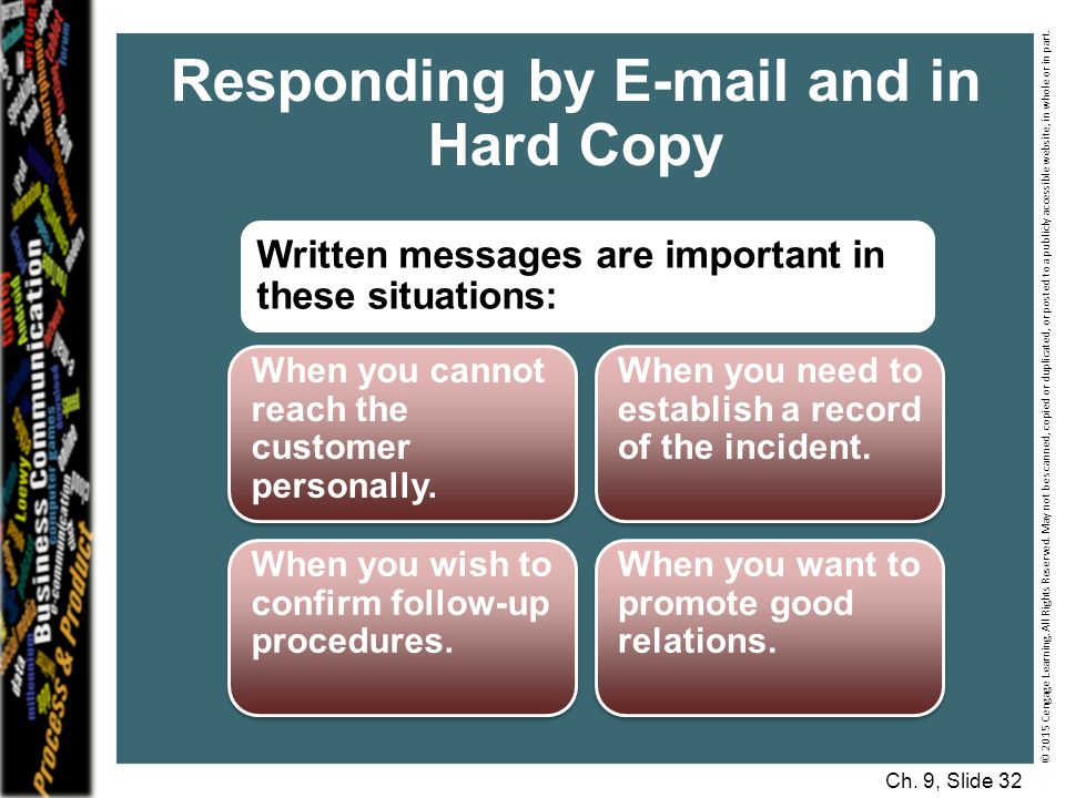 Responding by E-mail and in Hard Copy
