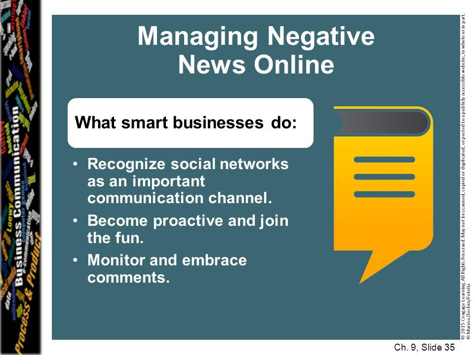Managing Negative News Online