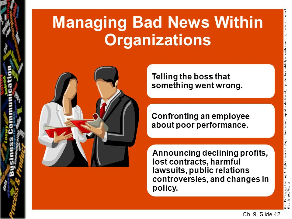 Managing Bad News Within Organizations