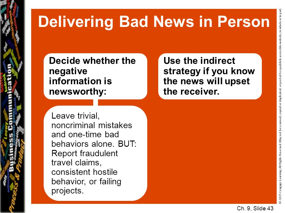 Delivering Bad News in Person