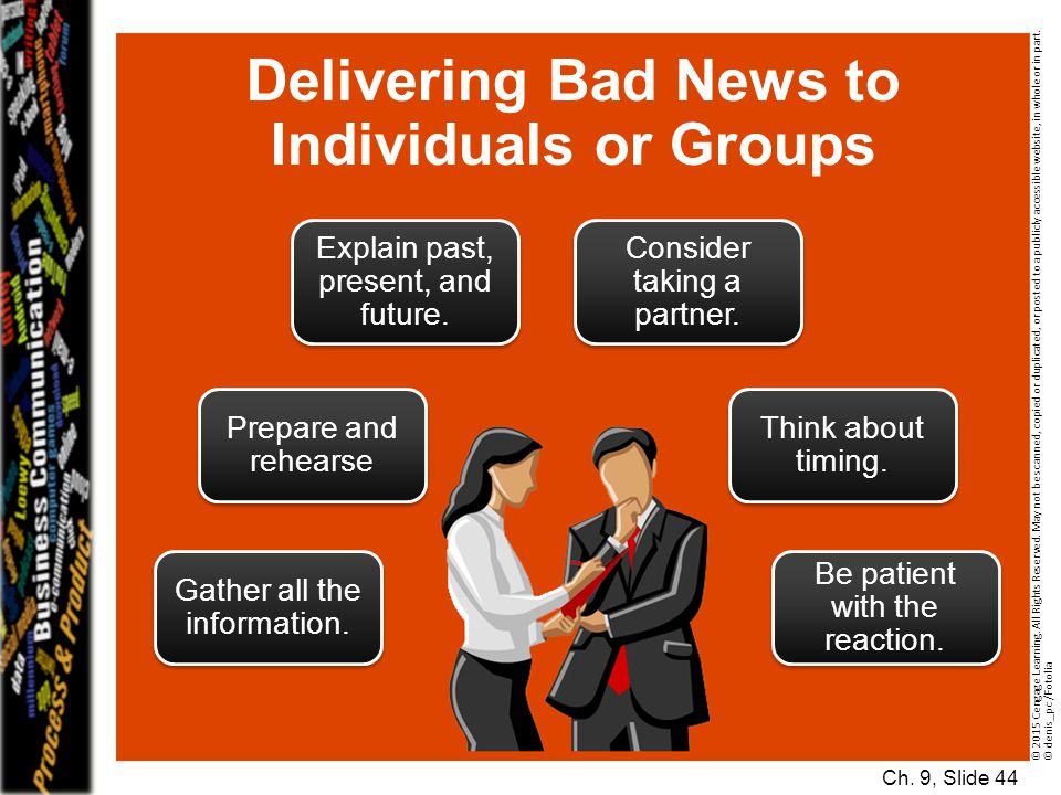 Delivering Bad News to Individuals or Groups