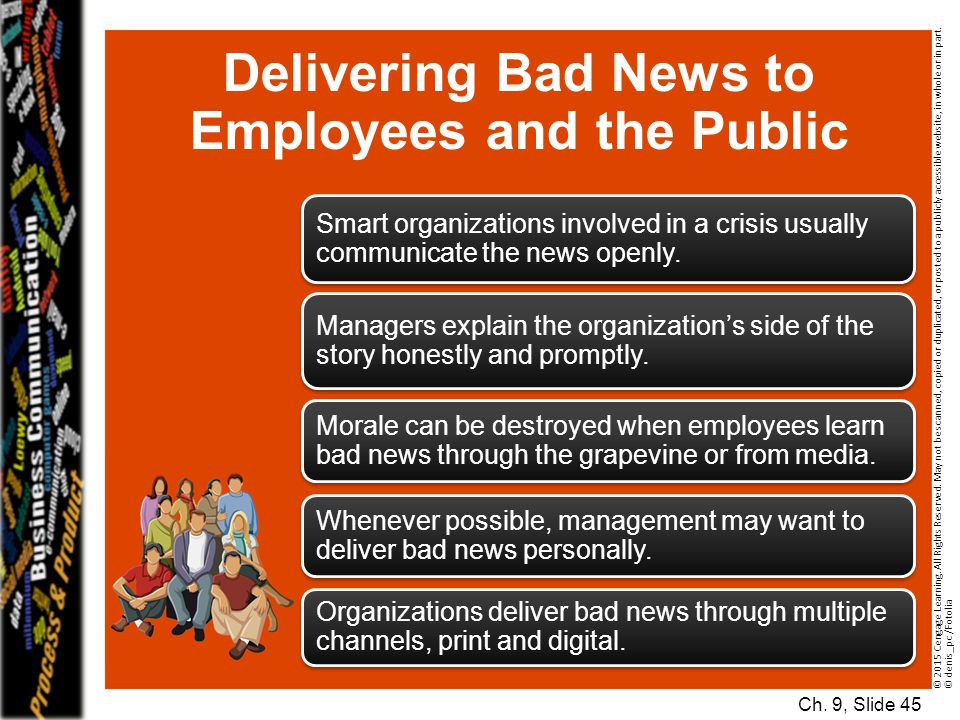 Delivering Bad News to Employees and the Public