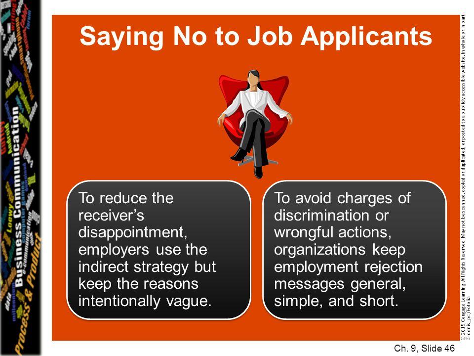 Saying No to Job Applicants