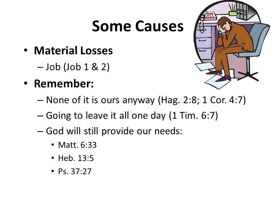 Some Causes Material Losses Remember: Job (Job 1 & 2)