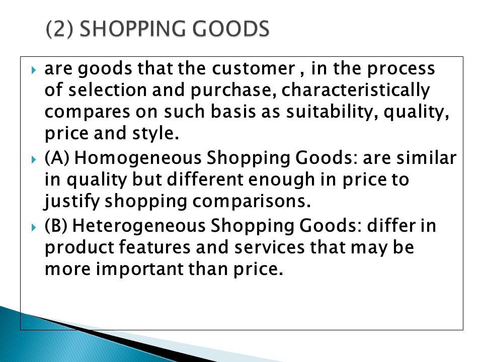 (2) SHOPPING GOODS