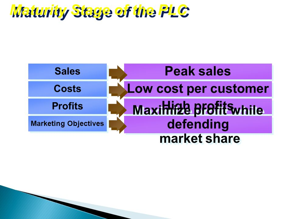 Maturity Stage of the PLC