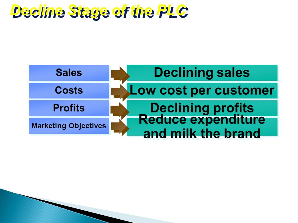 marketing strategy for decline stage essay The product life cycle includes stages such as growth, maturity and decline in each stage, businesses have to adjust their strategies to suit the needs of the market and the business environment.