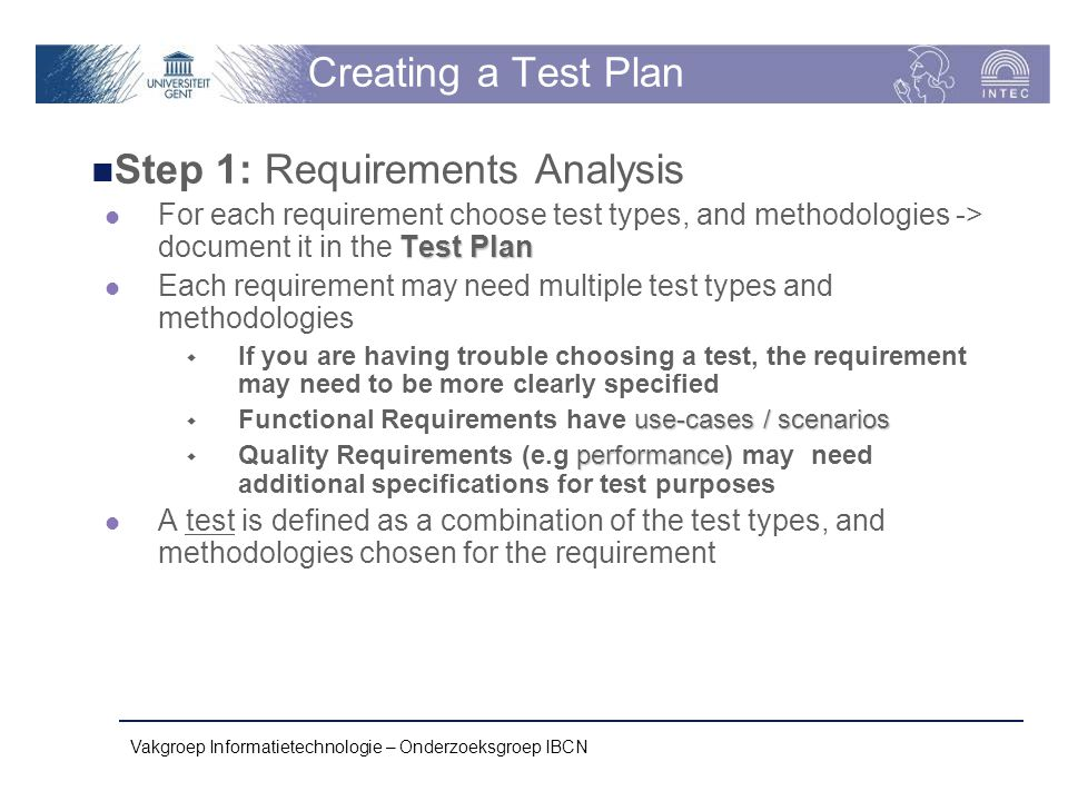 Step 1: Requirements Analysis