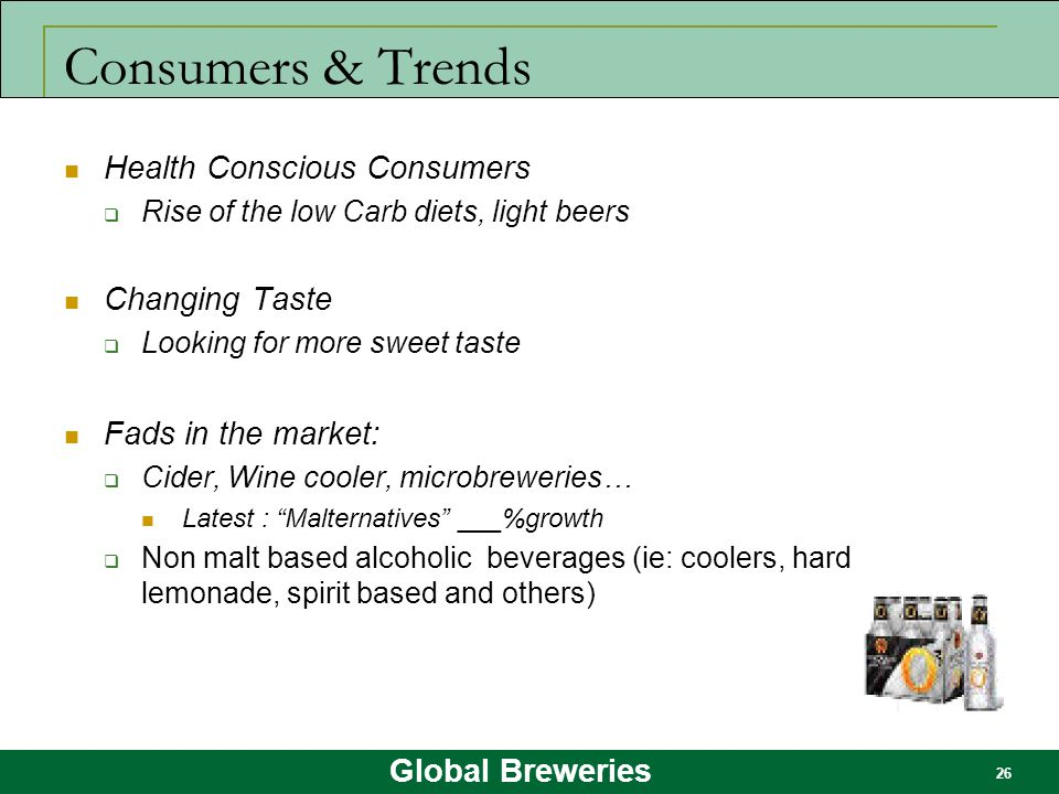 Consumers & Trends Health Conscious Consumers Changing Taste