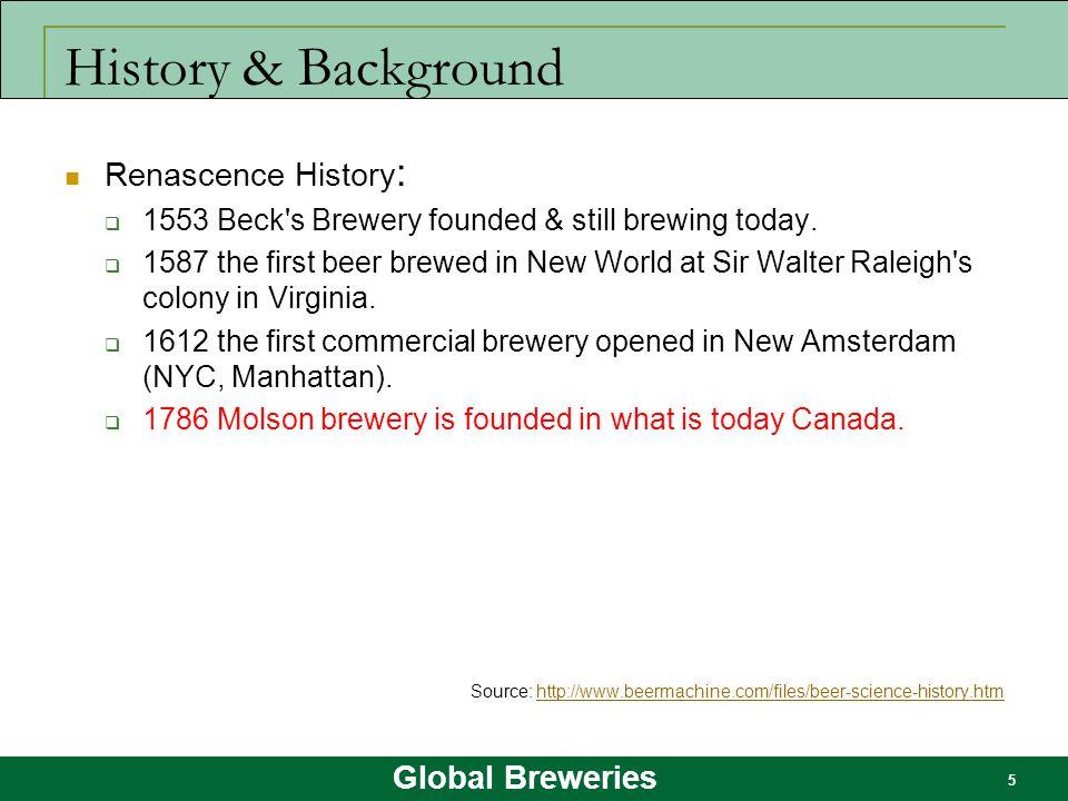 History & Background Renascence History: