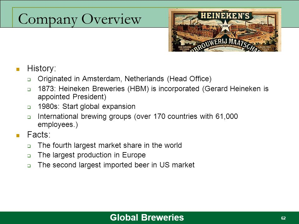 Company Overview History: Facts: