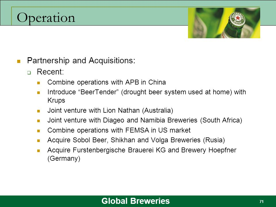 Operation Partnership and Acquisitions: Recent:
