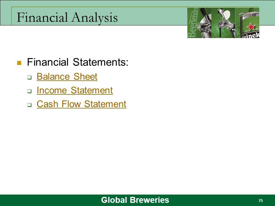 Financial Analysis Financial Statements: Balance Sheet