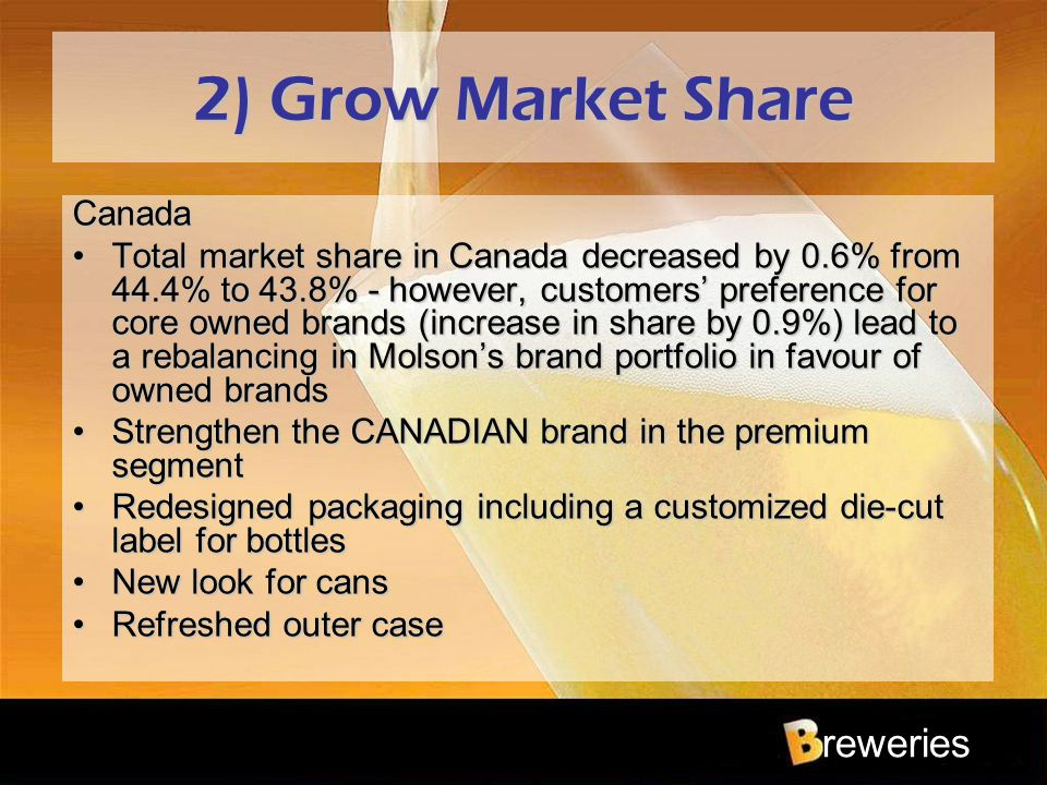 2) Grow Market Share Canada