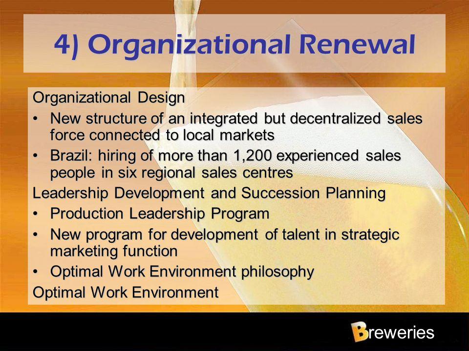 4) Organizational Renewal