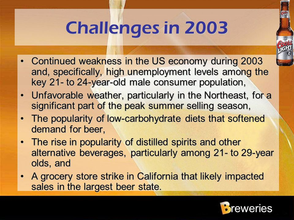 Challenges in 2003