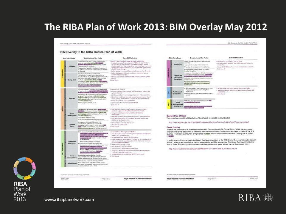 The RIBA Plan of Work 2013: BIM Overlay May 2012