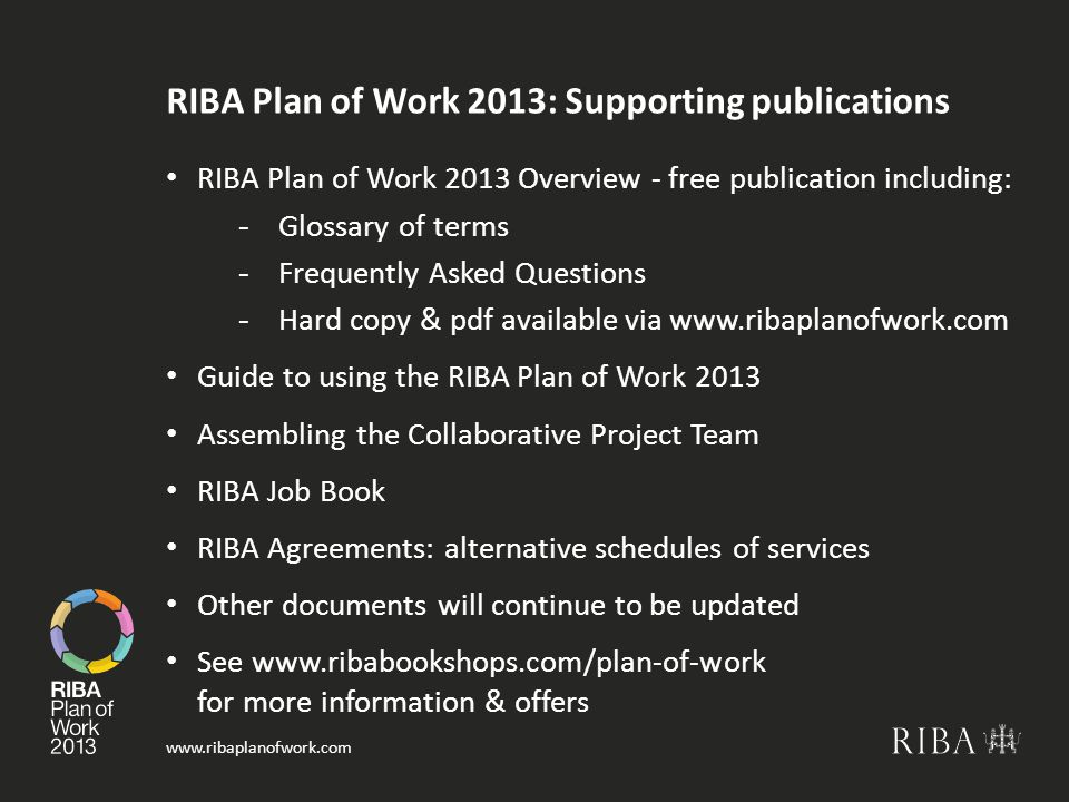 RIBA Plan of Work 2013: Supporting publications