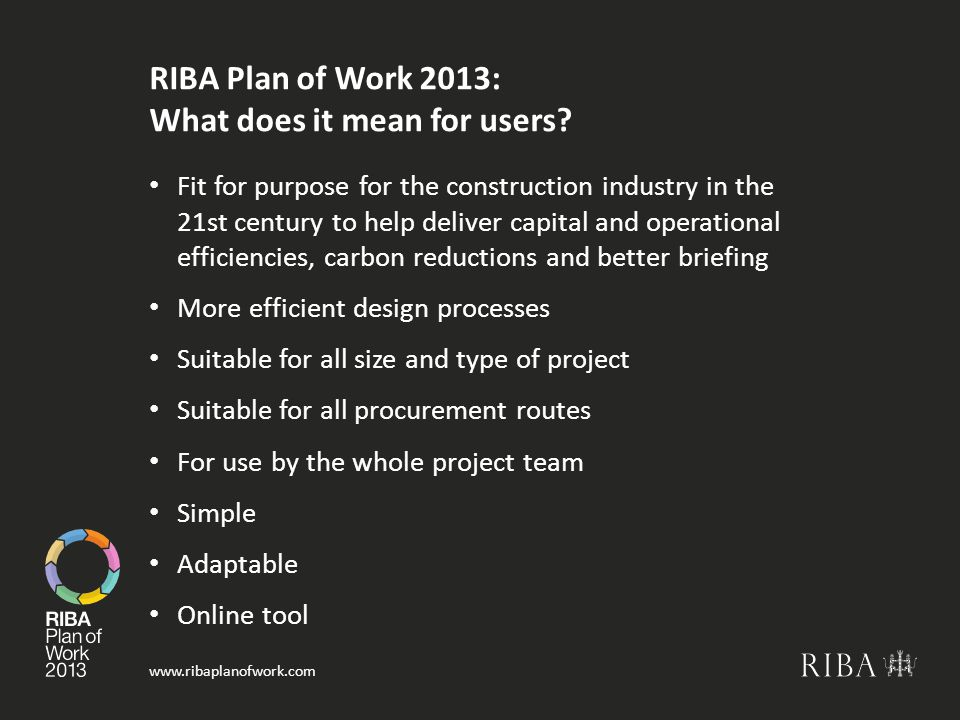 RIBA Plan of Work 2013: What does it mean for users