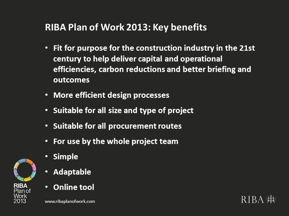 RIBA Plan of Work 2013: Key benefits